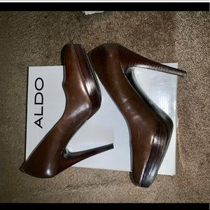 Brown Aldo Moos Pumps